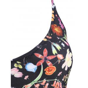 Floral Spaghetti Strap Ladder Swimsuit -