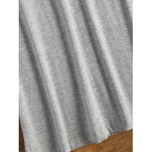 Short Sleeve Logo and Wing Print T-Shirt - GRAY ONE SIZE(FIT SIZE XS TO M)