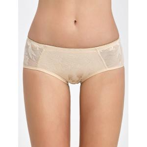 Padded Lace Insert Briefs - Complexion - M