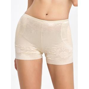 Floral Padded Panties Boyshorts - Complexion - M