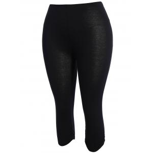 Plus Size Supper Stretchy Ruched Capri Sporty Pants -