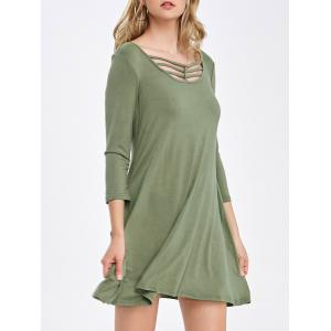 Pockets Design Cut Out Casual Summer Dress
