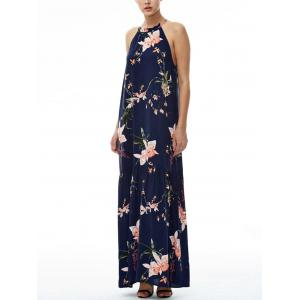 Floral Maxi Halter Beach Dress -