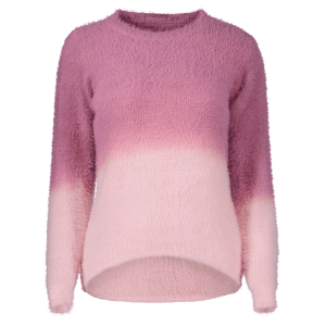 Ombre High-Low Fuzzy Sweater -