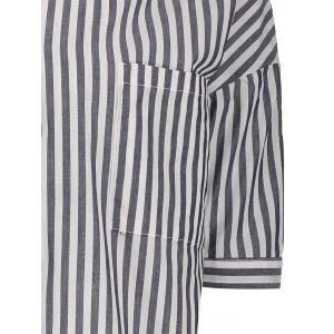 Striped Oversized Pocket Blouse -