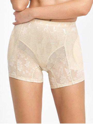 Chic Floral See-Through Padded Boyshorts - XL COMPLEXION Mobile