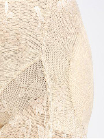 Outfit Floral See-Through Padded Boyshorts - L COMPLEXION Mobile