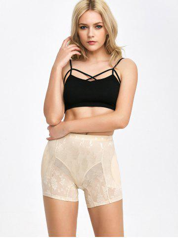 Shops Floral See-Through Padded Boyshorts - L COMPLEXION Mobile