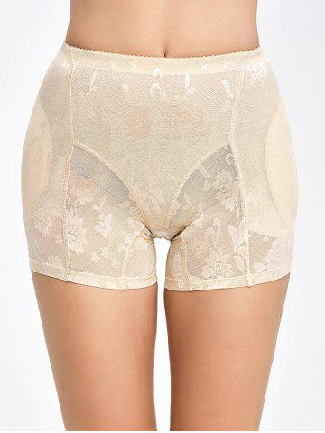 Buy Floral See-Through Padded Boyshorts - L COMPLEXION Mobile