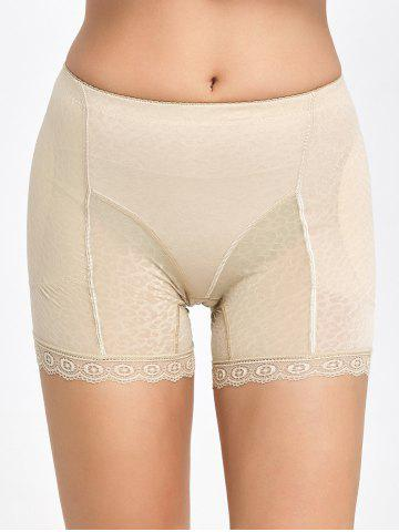 Fancy Lace Trim Padded Panties Boyshorts - 2XL COMPLEXION Mobile