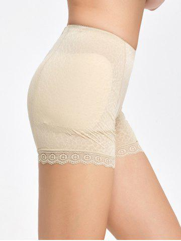 Cheap Lace Trim Padded Panties Boyshorts - M COMPLEXION Mobile