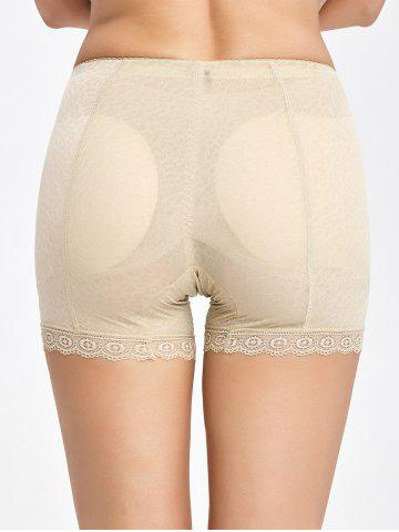 Affordable Lace Trim Padded Panties Boyshorts - M COMPLEXION Mobile