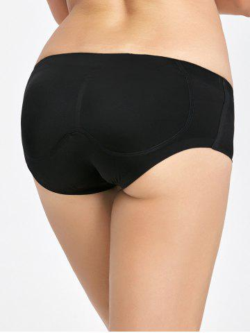Online Padded Seamless Briefs - M BLACK Mobile