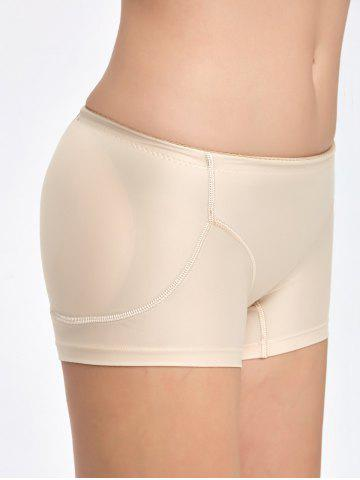 Affordable Padded Midi Waist Boyshorts Panties - M COMPLEXION Mobile