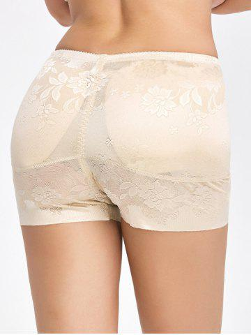 Cheap Floral Padded Panties Boyshorts - 2XL COMPLEXION Mobile