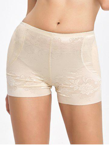 Affordable Floral Padded Panties Boyshorts - 2XL COMPLEXION Mobile