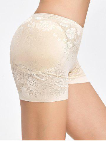 Sale Floral Padded Panties Boyshorts - L COMPLEXION Mobile