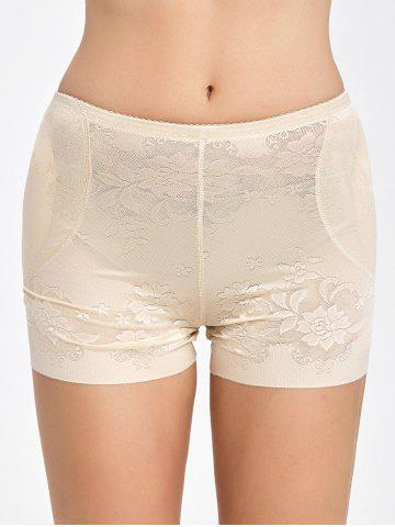 Cheap Floral Padded Panties Boyshorts - L COMPLEXION Mobile