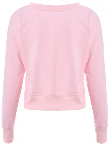 Fashion Graphic Front Oversized Sweatshirt - XL PINK Mobile