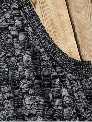 Online Cold Shoulder Basket Weave Jumper - M GRAY Mobile