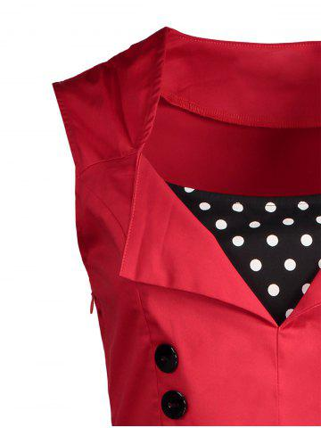 Outfit Polka Dot Retro Corset A Line Dress - S RED Mobile