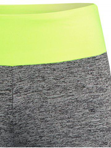 Cheap Space-Dyed Color Running Leggings - S NEON GREEN Mobile