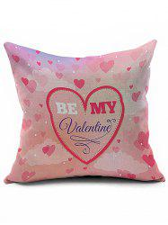 Heart Love Pattern Be My Valentine Pillow Case