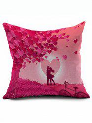 Heart Valentine Couples Design Pillow Case