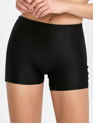 Padded Seamless Panties Boyshorts - BLACK