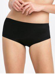 Padded Seamless Briefs - BLACK