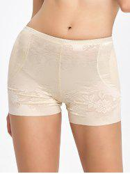 Floral Padded Panties Boyshorts - COMPLEXION