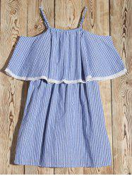 Cami Cold Shoulder Striped Casual Dress