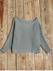 Batwing Sleeve Asymmetric Sweater