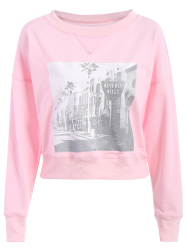 Graphic Front Oversized Sweatshirt