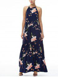 Floral Maxi Halter Beach Dress