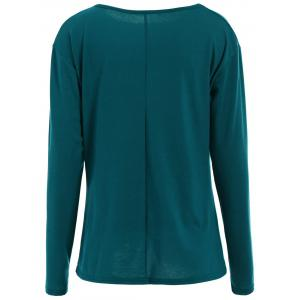 Oversized Long Knotted Tee - LAKE GREEN L