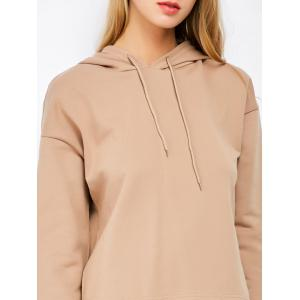 Hooded Top and Scrub Wide Leg Pants Twinset - APRICOT M