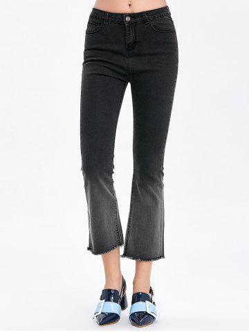 Affordable Frayed Hem Ombre Boot Cut Jeans