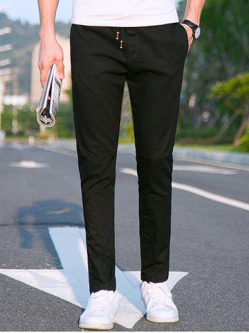 Online Pocket Narrow Feet Drawstring Casual Pants