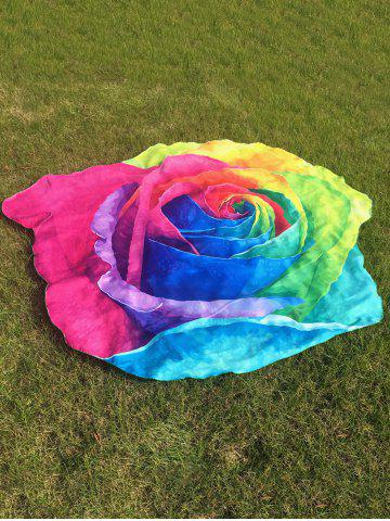 Multicolor Rose Design Beach Throw - COLORFUL ONE SIZE