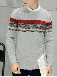Crew Neck Texture Knitted Sweater