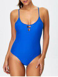 Lace-Up Crosscriss Cami One-Piece Swimwear