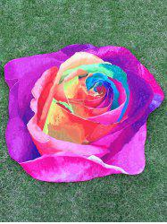 Multicolor Rose Design Beach Throw - PURPLE ONE SIZE