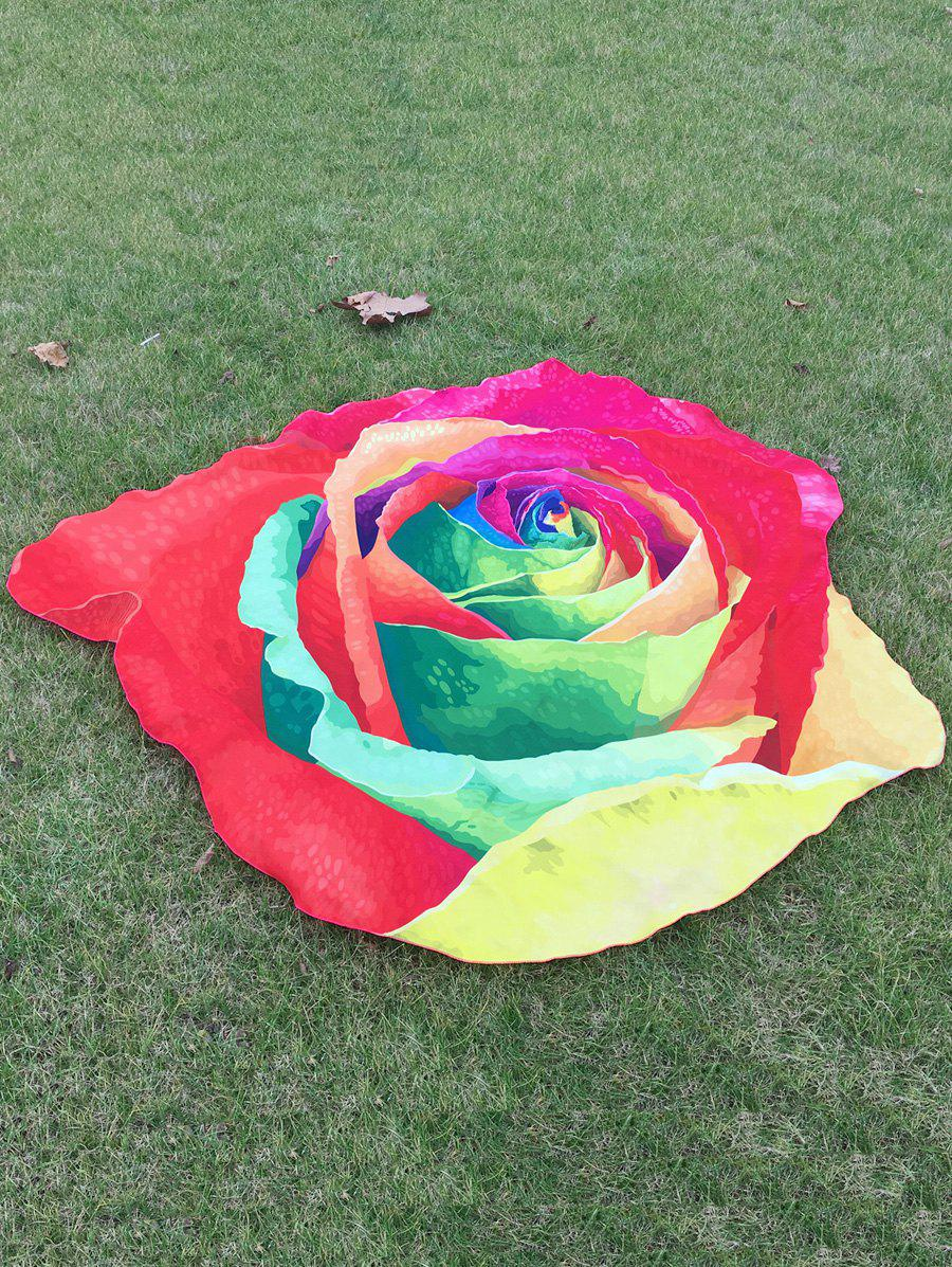 Online Multicolor Rose Design Beach Throw