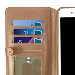 Multifounction Faux Leather Card slot Case Flip Wallet pour iPhone - Or Rose