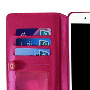 Multifounction Faux Leather Card slot Case Flip Wallet pour iPhone -
