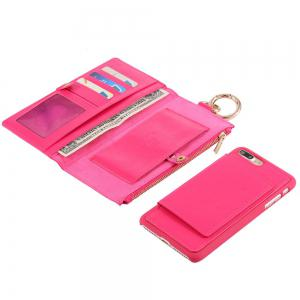 2 en 1 Case Wallet détachables Pour iPhone Samsung - rose