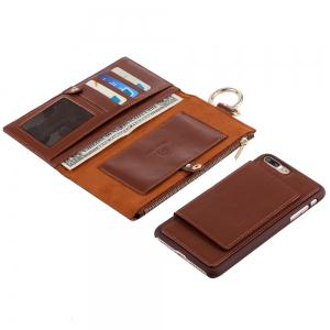 2 en 1 Case Wallet détachables Pour iPhone Samsung - Brun POUR IPHONE 7 PLUS