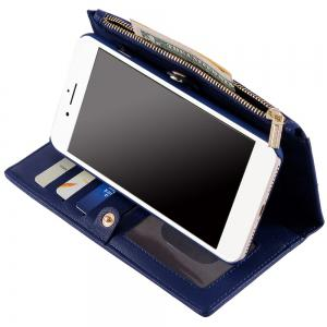 2 en 1 Case Wallet détachables Pour iPhone Samsung - Bleu FOR SAMSUNG S6 EDGE