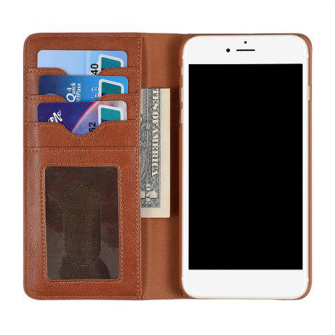 Buy Flip Faux Leather Wallet Stand Holder Case iPhone - Brown FOR IPHONE 6 / 6S